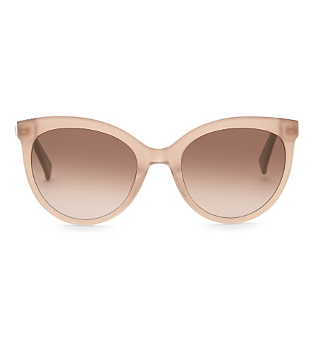 MAX MARA MM5421 Jewel2 round-frame sunglasses (Beige+pink