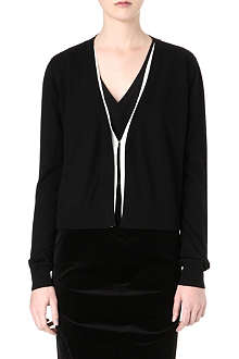 SPORTMAX Silk-trim cardigan
