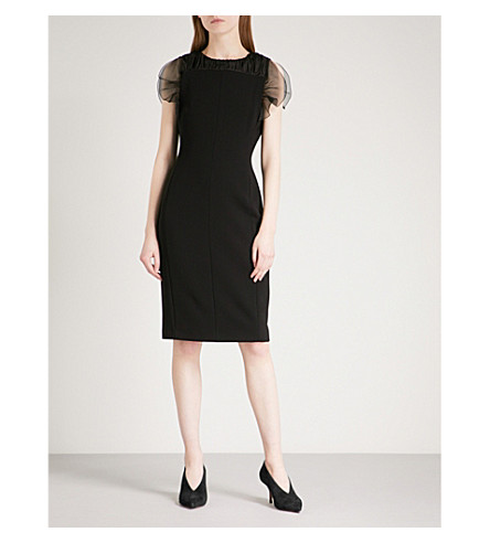 MAX MARA ELEGANTE Katana silk-crepe dress (Black