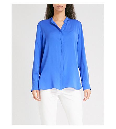 MAX MARA Kibbutz silk-crepe shirt (Blue