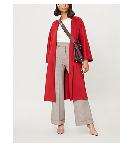 MAX MARA Open-front cashmere coat (Red