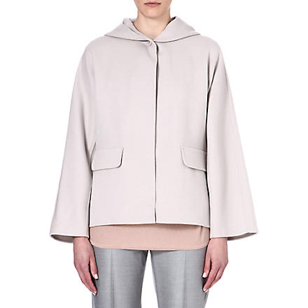 MAX MARA Hooded wool-blend coat (Sand
