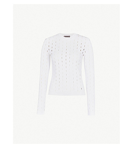 SPORTMAX Laghi knitted jumper (Optical+white