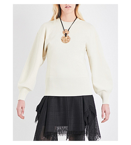 SPORTMAX Lancia knitted sweater (Ivory