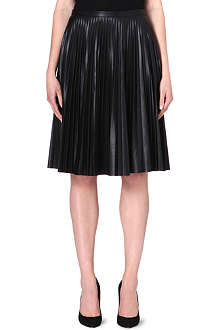 MAX MARA STUDIO Larix faux-leather pleated skirt
