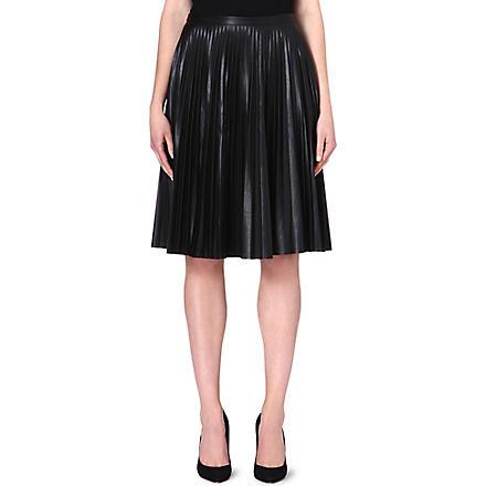 MAX MARA STUDIO Larix faux-leather pleated skirt (Black
