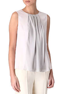 MAXMARA STUDIO Laser two-tone chiffon top