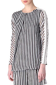 SPORTMAX Latte striped top