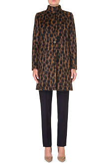MAX MARA Animal-print wool and mohair-blend coat