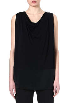 MAX MARA Sleeveless draped neckline top
