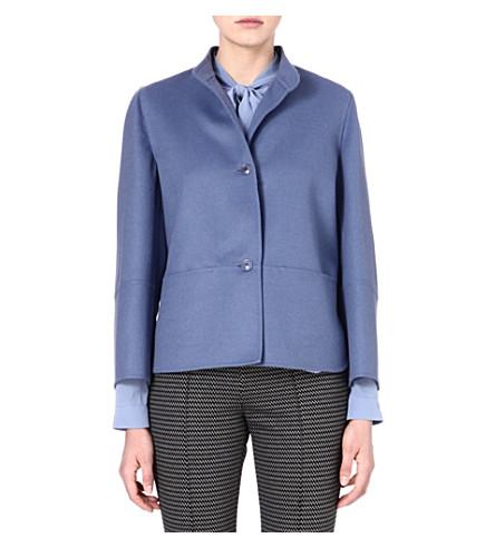 MAX MARA Lecco wool and angora-blend jacket (Blue