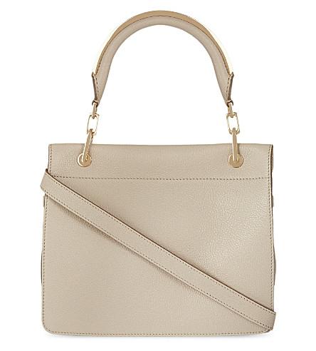 MAX MARA Small leather messenger bag (Ice