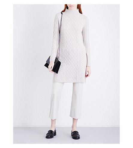 S MAX MARA Leggio cable-knit wool-blend dress (Ivory