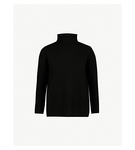 S MAX MARA Legno high-neck wool and cashmere-blend jumper (Black