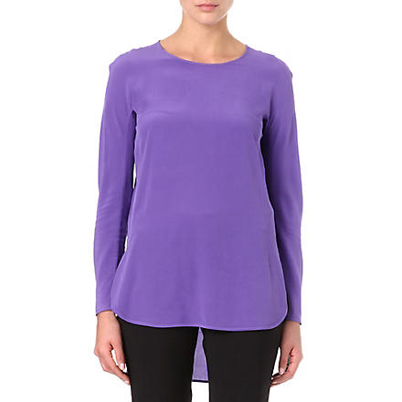 S MAX MARA Silk tunic top (Purple