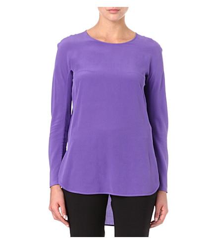 S MAX MARA Silk tunic top (Purple