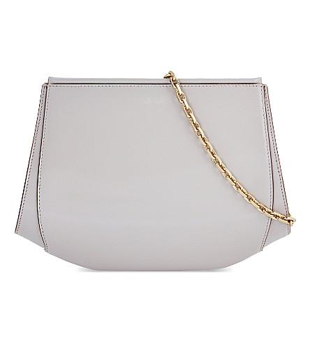 MAX MARA Lemma clutch bag with chain strap (Nude