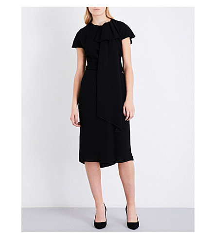 MAX MARA ELEGANTE Lemma crepe midi dress (Black