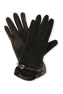 MAX MARA Leather and suede gloves