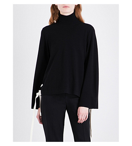 SPORTMAX Lepido wool jumper (Black+white