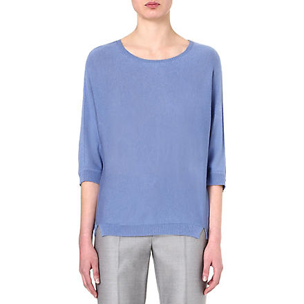MAX MARA Lepre silk and cashmere-blend jumper (Blue