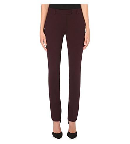 SPORTMAX Letter slim-fit trousers (Burgundy
