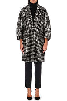 MAX MARA Leva checked wool-blend coat