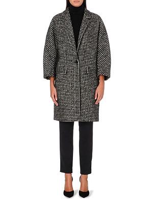 MAX MARA Leva checked wool-blend coat