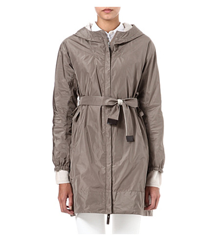 MAX MARA CUBE Lighte reversible hooded overcoat (Turtledove