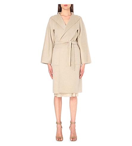 MAX MARA tie-waist cashmere coat (Beige