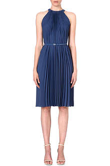MAX MARA Pleated crepe dress