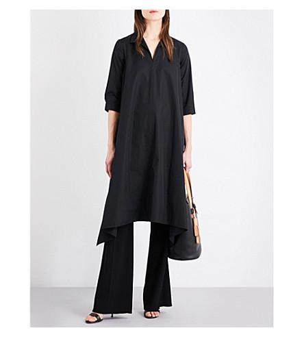 MAX MARA Liriche cotton-poplin shirt dress (Black