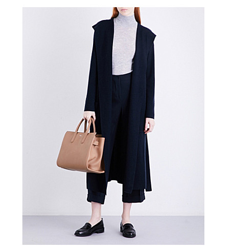 S MAX MARA Lisa hooded wool-blend cardigan (Navy