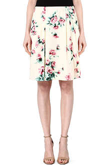 MAX MARA STUDIO Liuto floral-print pleated skirt
