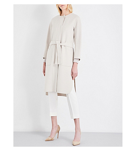 S MAX MARA Luca wool wrap coat (Ice