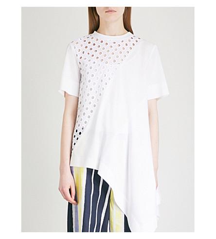 SPORTMAX Lupino asymmetric-hem cotton T-shirt (White