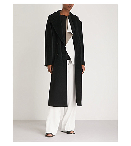MAX MARA Madame double-breasted wool and cashmere-blend coat (Black