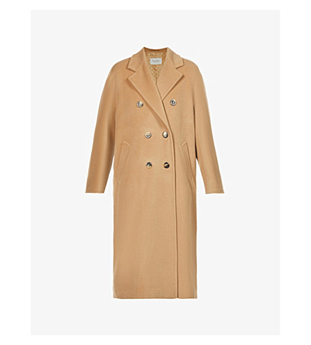 MAX MARA Madame double-breasted wool and cashmere-blend coat (Camel