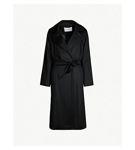 MAX MARA 马诺拉骆驼做成裹身大衣 (黑色