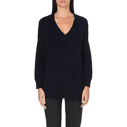 MAX MARA Marco wool and cashmere-blend jumper (Navy