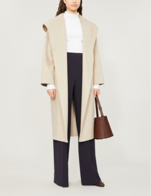 Marilyn hooded cashmere wrap coat(8018941)