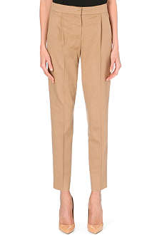MAX MARA Maser tapered camel-hair trousers
