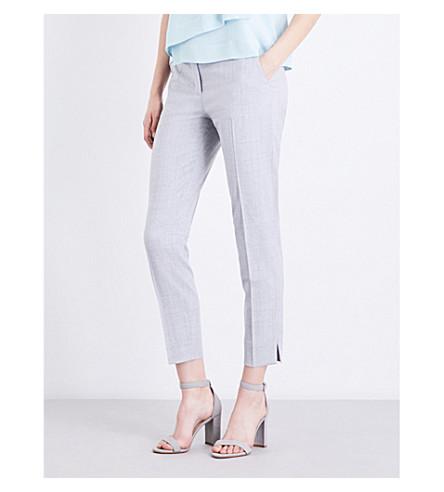 MAX MARA Maser stretch-wool trousers (Grey