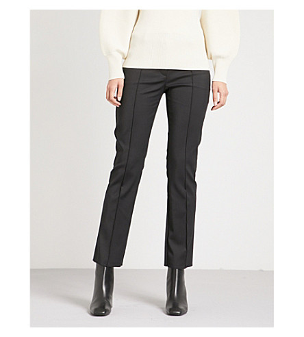 SPORTMAX Meandro mid-rise stretch-cotton trousers (Black