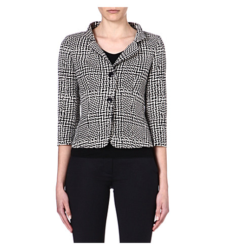 MAX MARA Megaton checked jacket (Black/white
