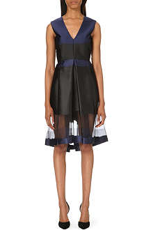 MAX MARA Melfi satin and silk-organza dress