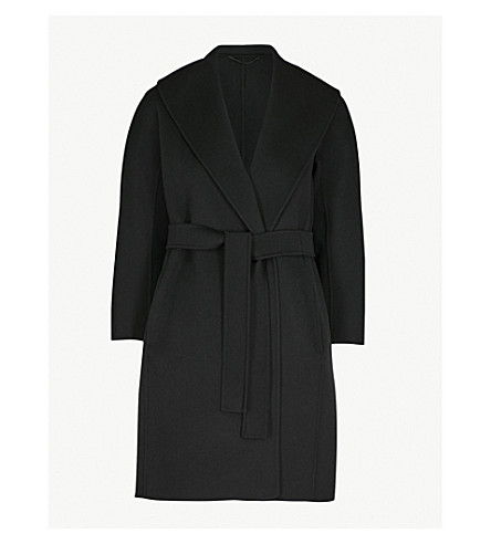 S MAX MARA Messi wool wrap coat (Black