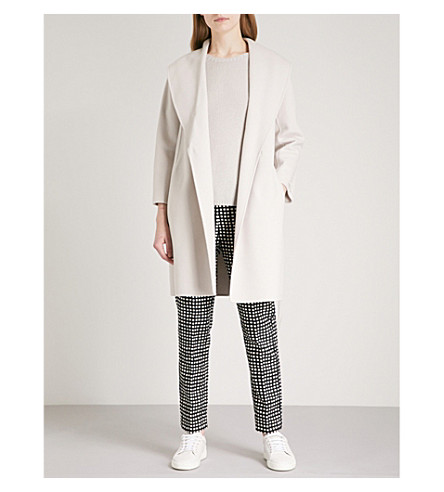 S MAX MARA Messi wool wrap coat (Ice