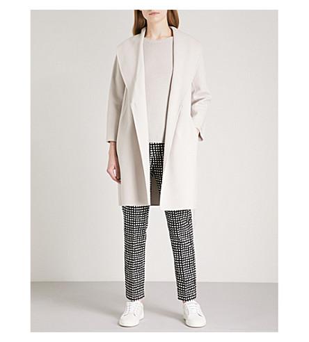 S MAX MARA Tie-waist wool coat (Ice