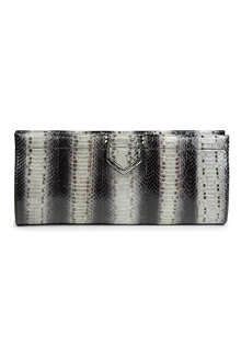 MAXMARA Miretta snakeskin leather clutch